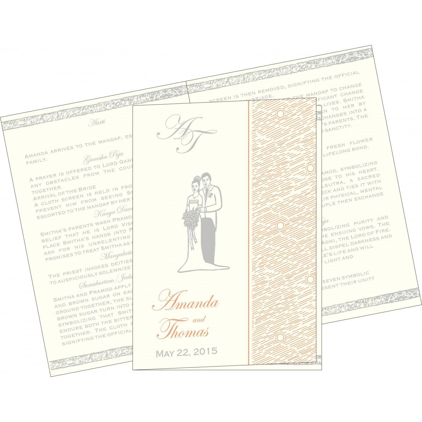 Program Booklets : PC-8209A - 123WeddingCards