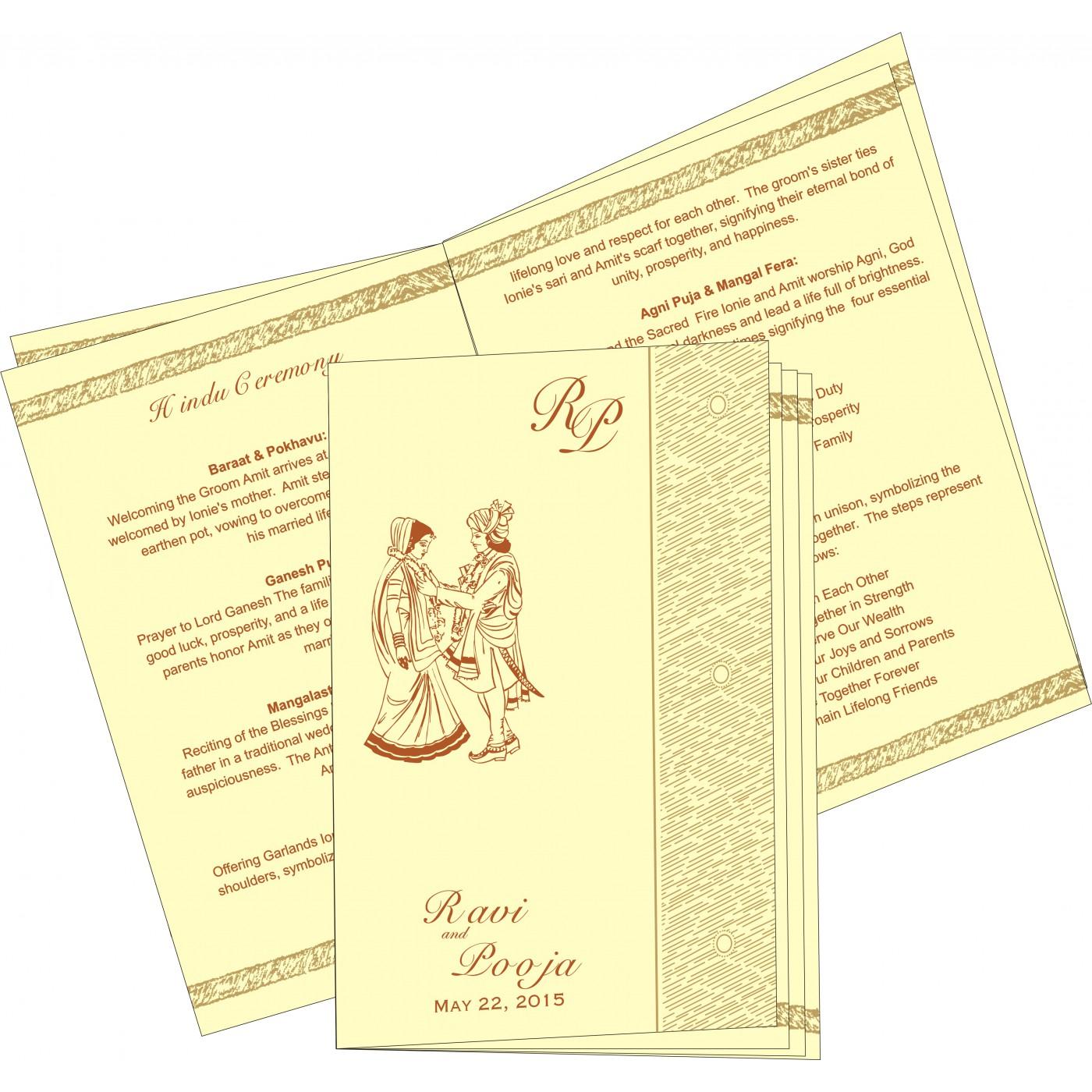 Program Booklets : PC-8209D - 123WeddingCards