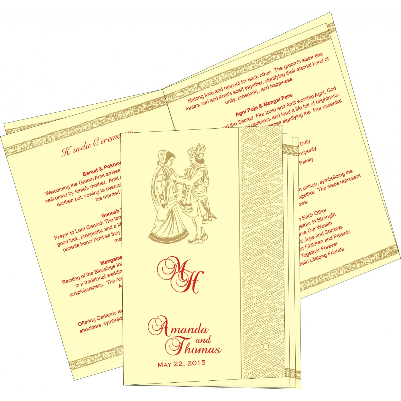 Program Booklets : PC-8209I - 123WeddingCards