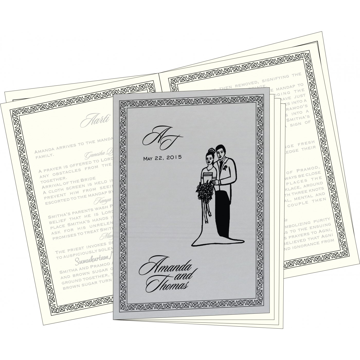 Program Booklets : PC-8211B - 123WeddingCards