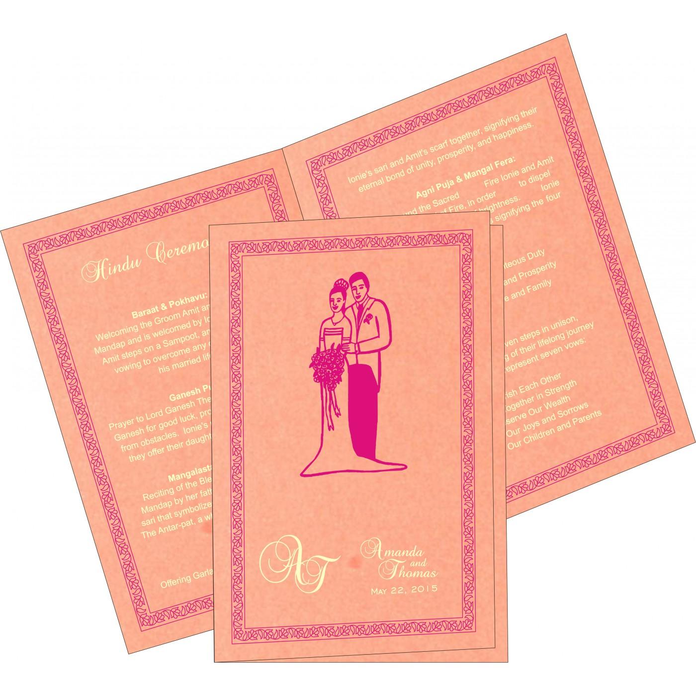Program Booklets : PC-8211D - 123WeddingCards