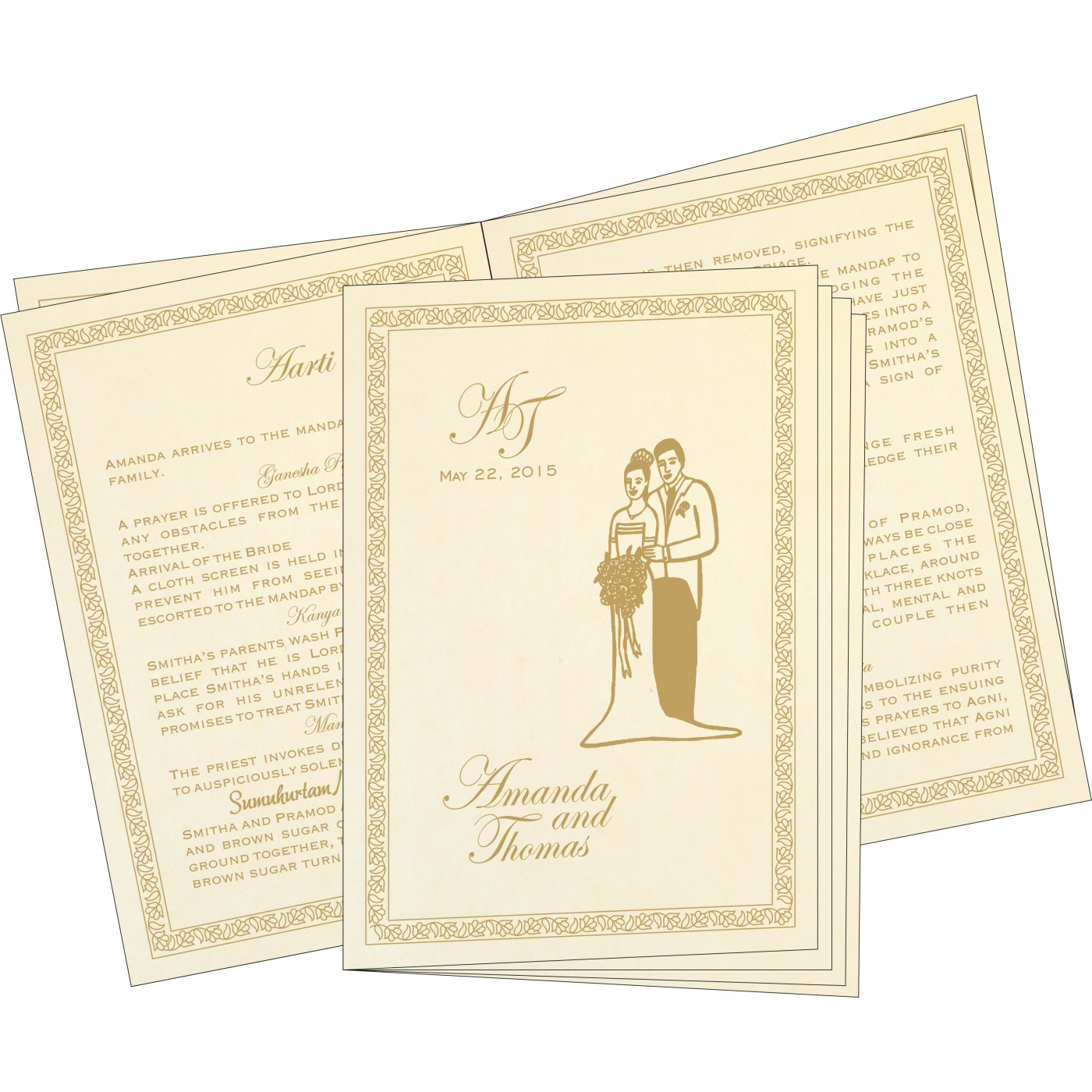 Program Booklets : PC-8211G - 123WeddingCards