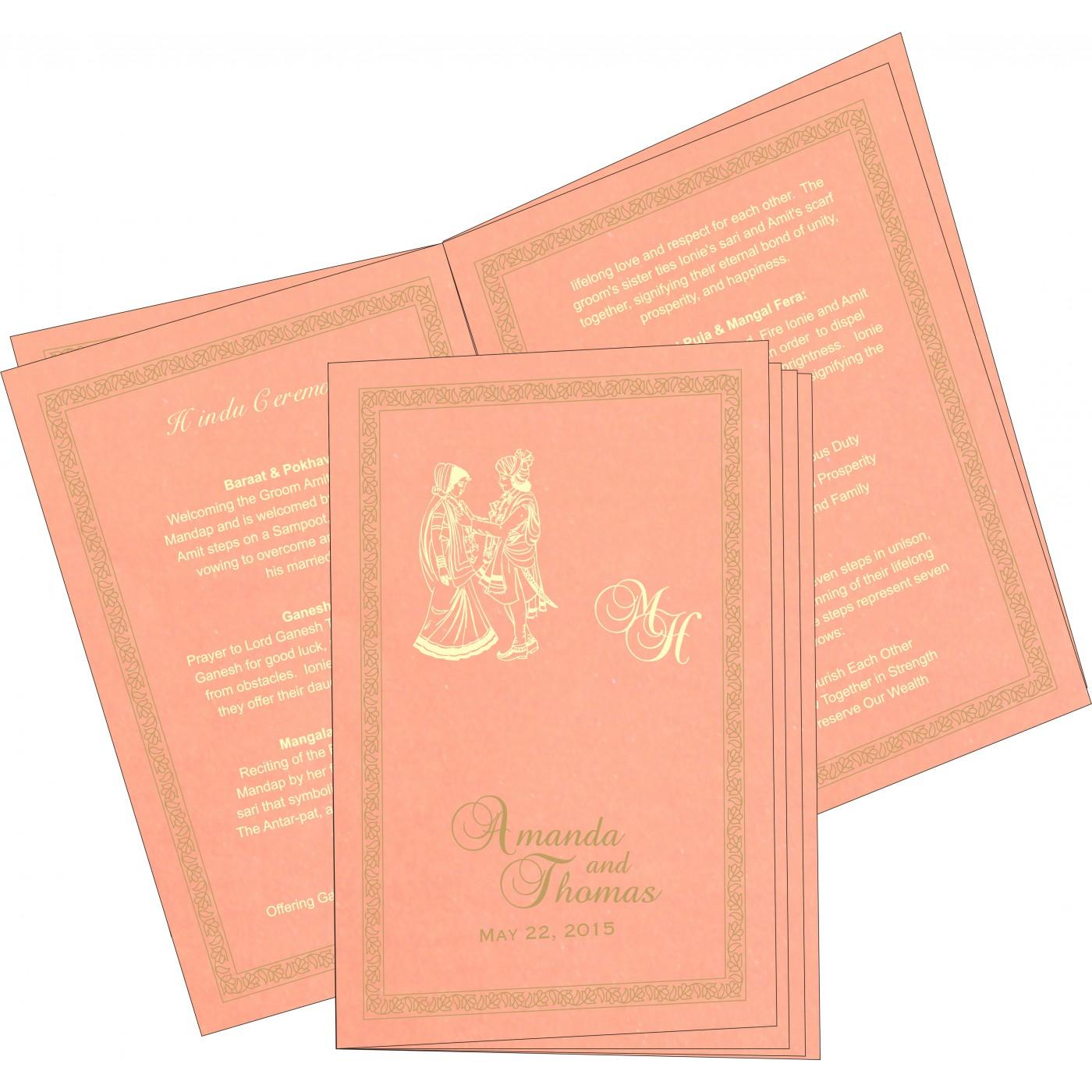 Program Booklets : PC-8211J - 123WeddingCards