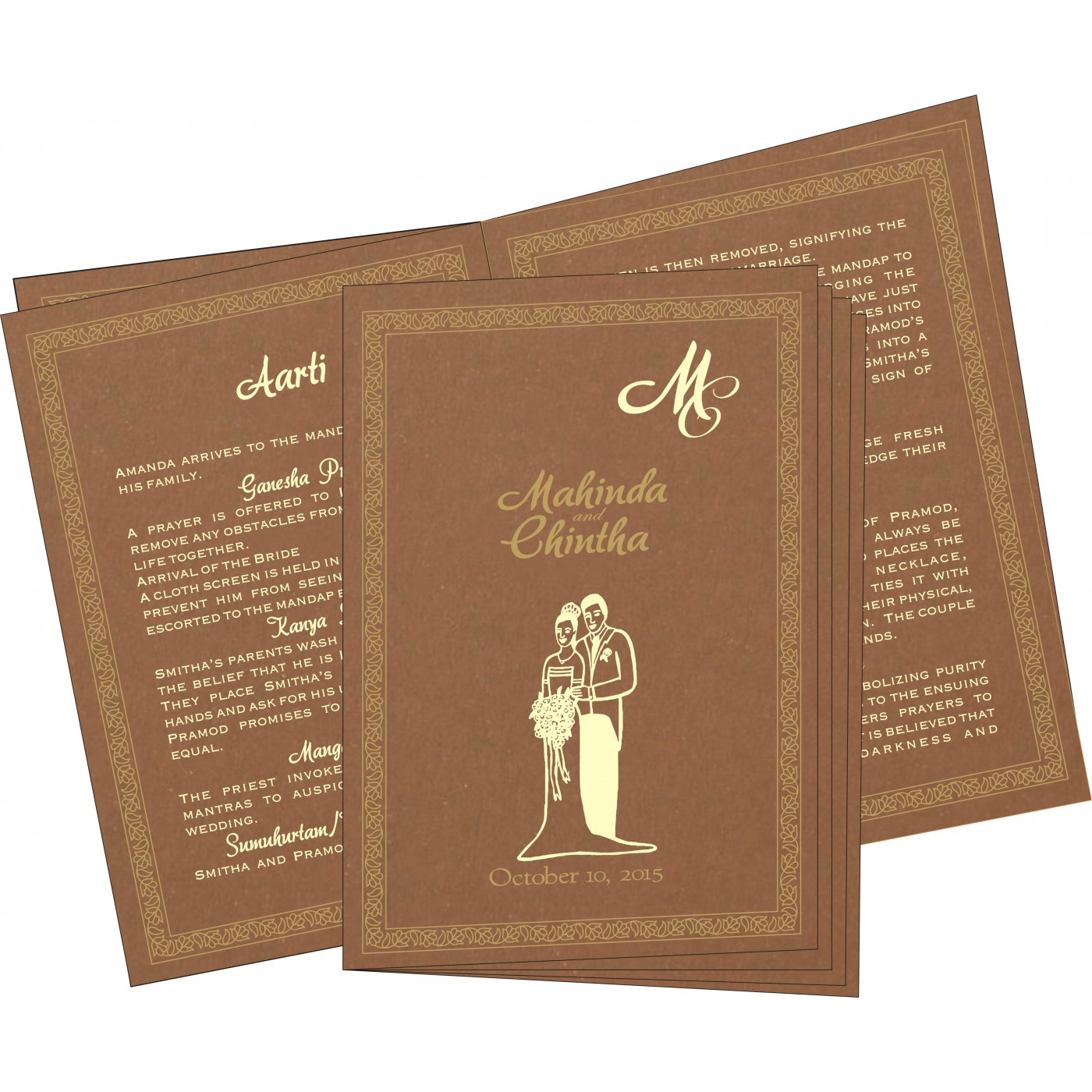 Program Booklets : PC-8211L - 123WeddingCards