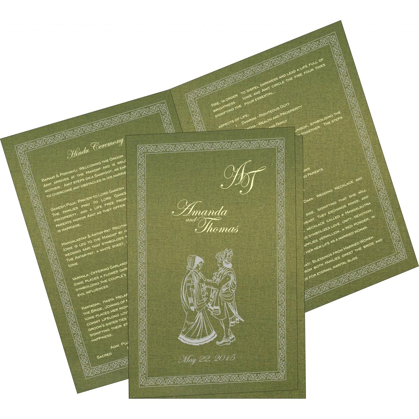 Program Booklets : PC-8211M - 123WeddingCards