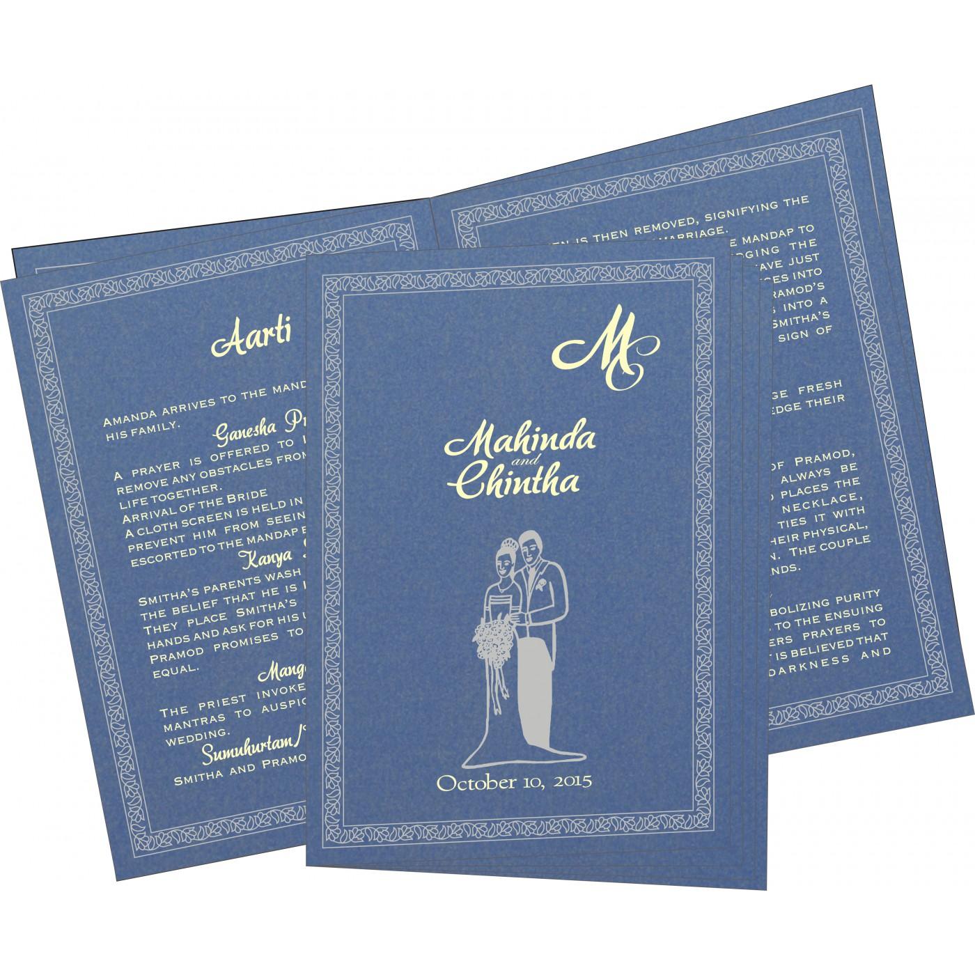 Program Booklets : PC-8211P - 123WeddingCards