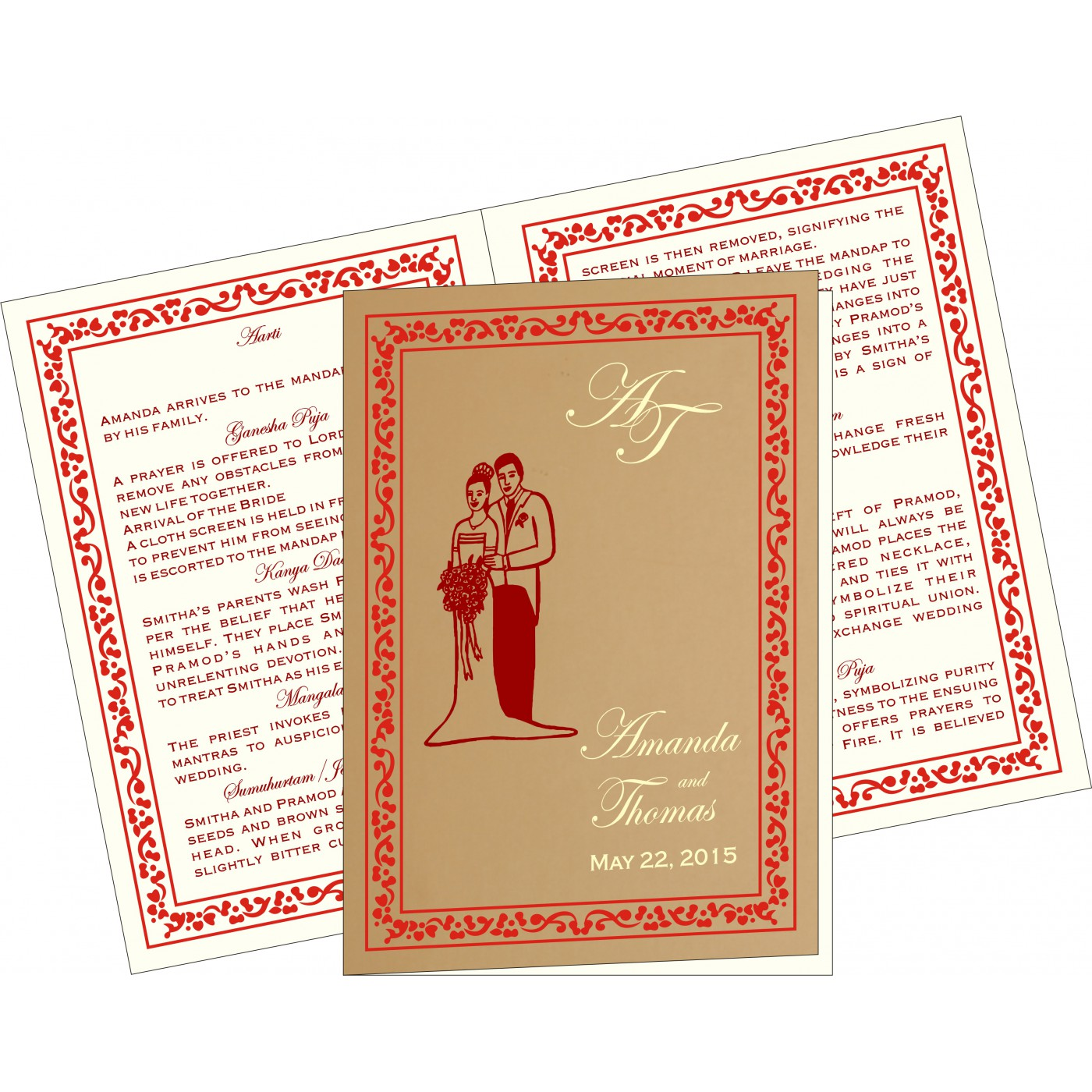 Program Booklets : PC-8214A - 123WeddingCards