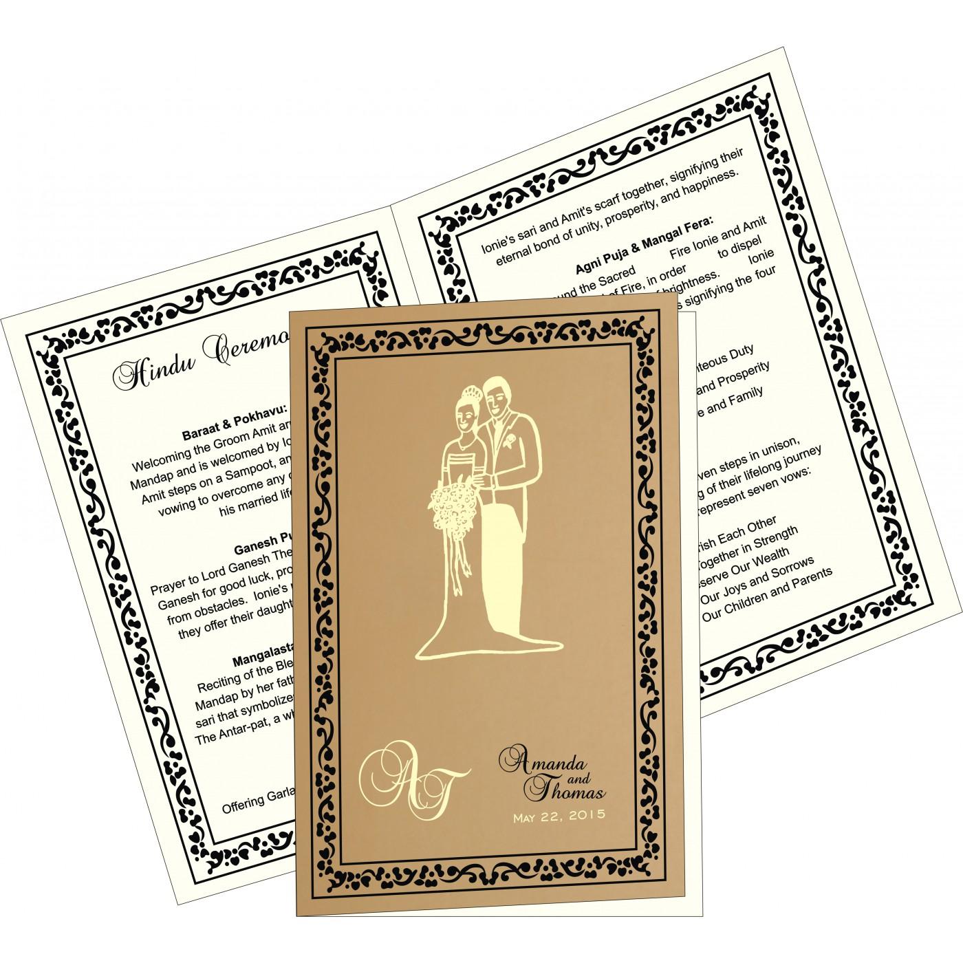 Program Booklets : PC-8214D - 123WeddingCards