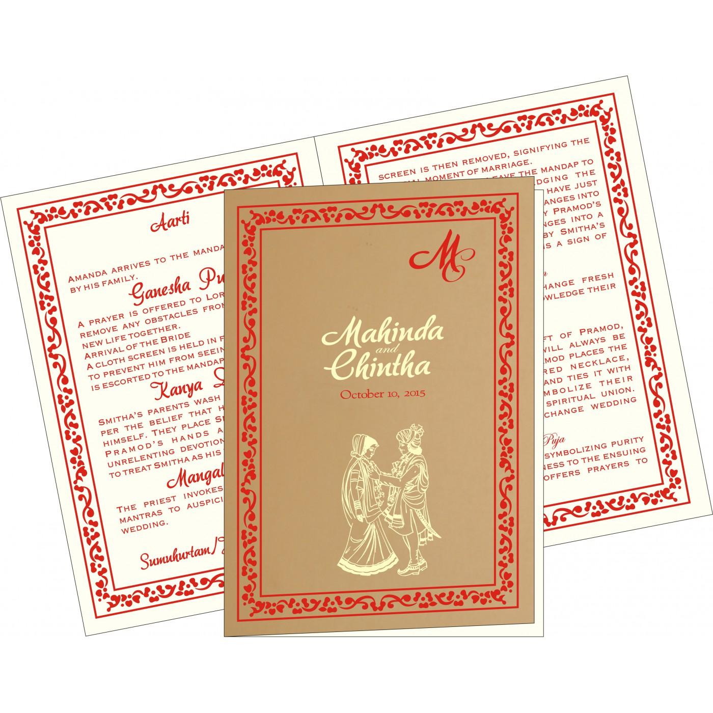 Program Booklets : PC-8214F - 123WeddingCards
