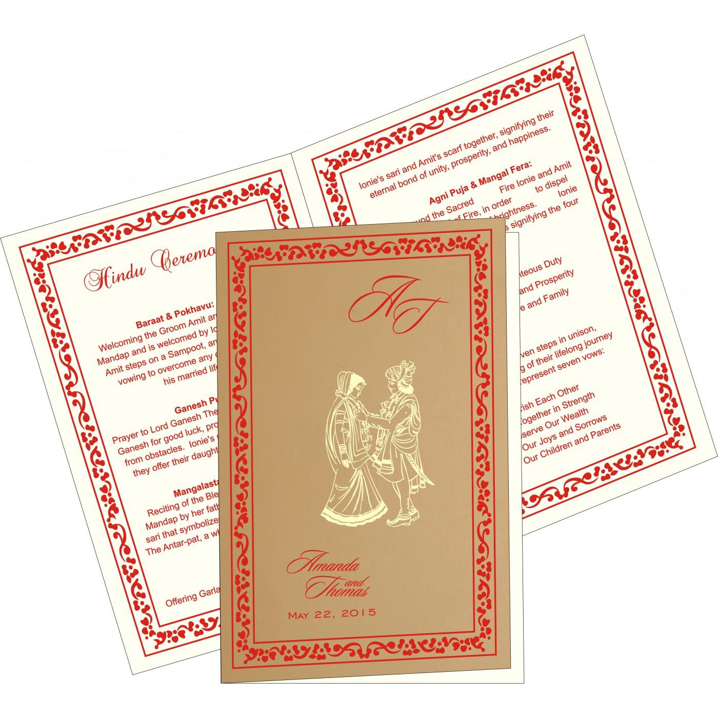 Program Booklets : PC-8214H - 123WeddingCards