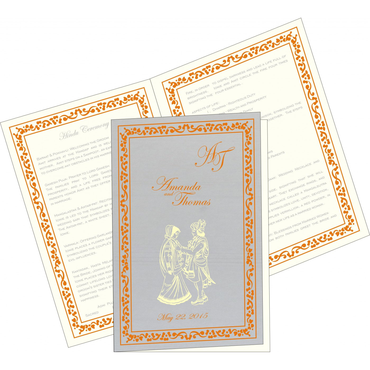 Program Booklets : PC-8214M - 123WeddingCards