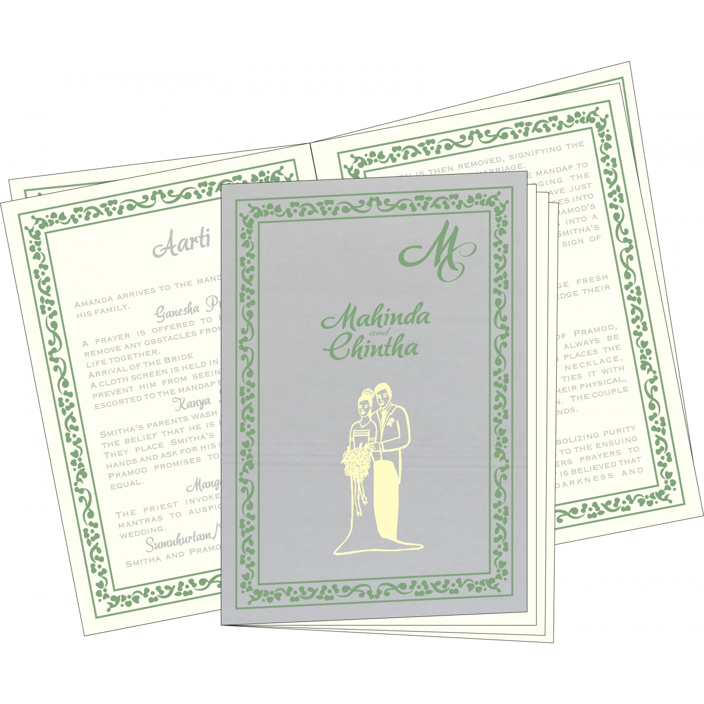 Program Booklets : PC-8214P - 123WeddingCards