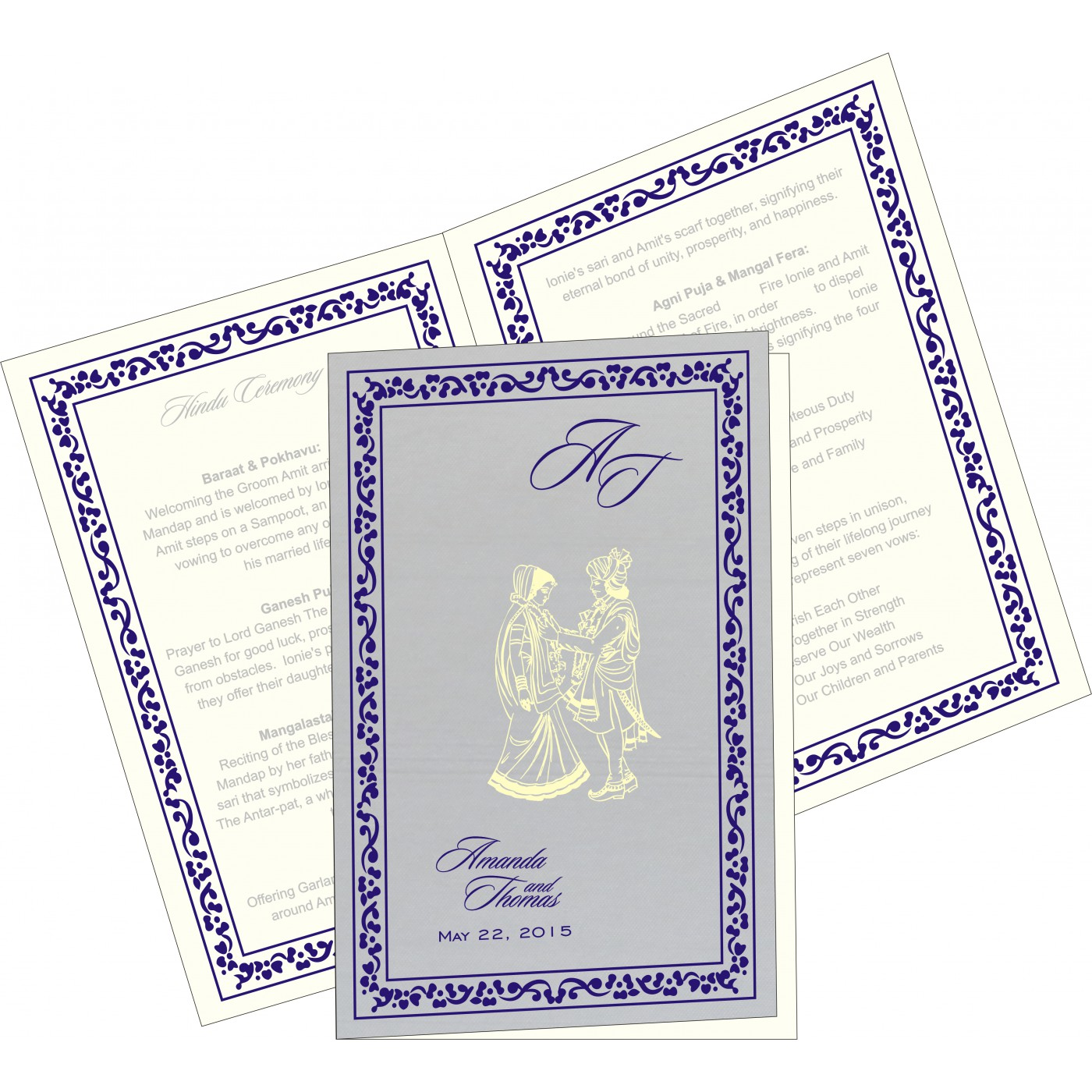 Program Booklets : PC-8214Q - 123WeddingCards