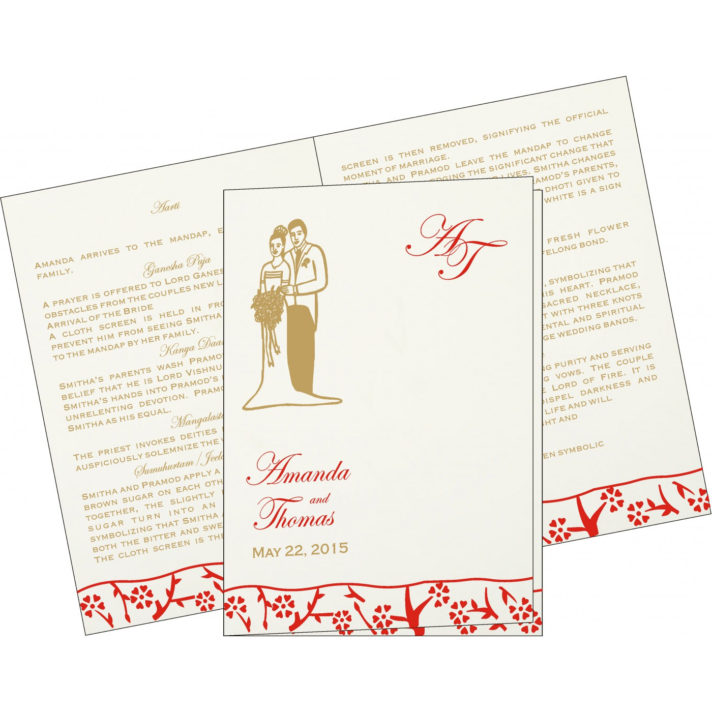 Program Booklets : PC-8216A - 123WeddingCards