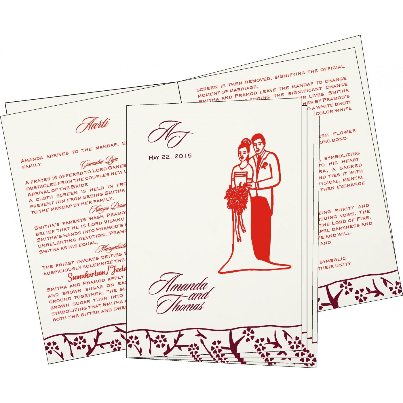 Program Booklets : PC-8216B - 123WeddingCards