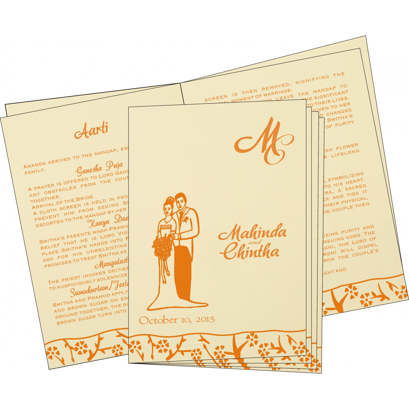 Program Booklets : PC-8216O - 123WeddingCards