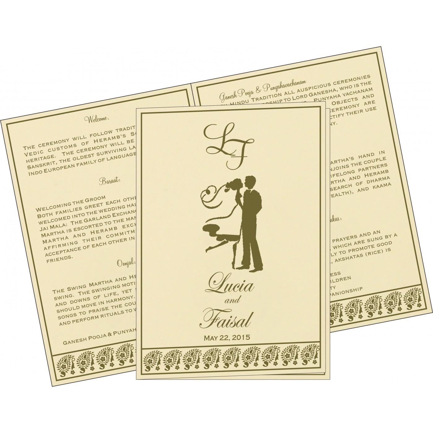 Program Booklets : PC-8218A - 123WeddingCards