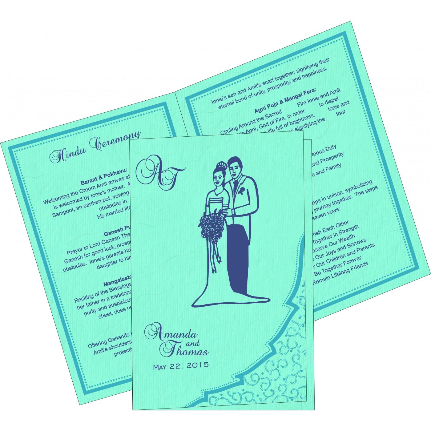 Program Booklets : PC-8219C - 123WeddingCards