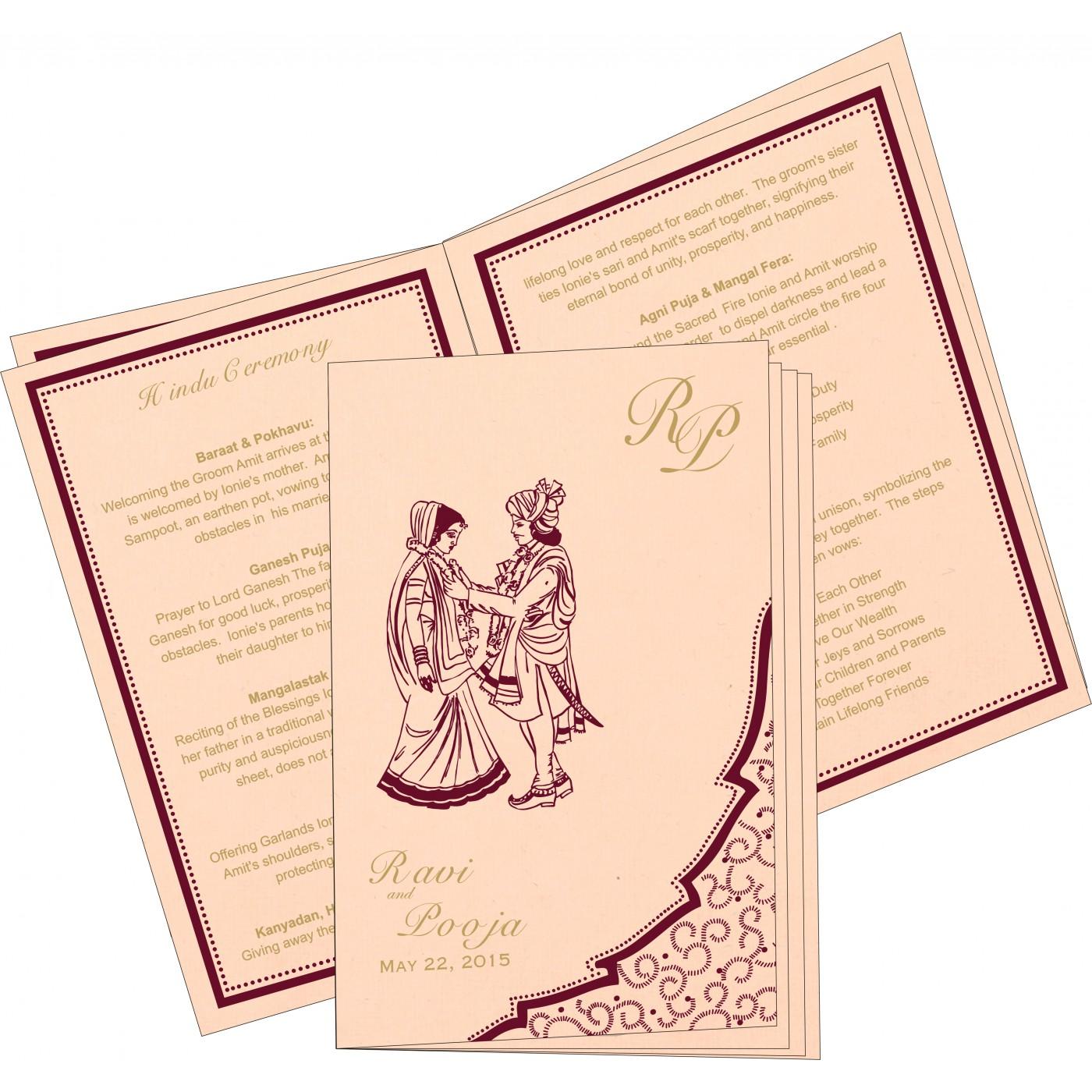 Program Booklets : PC-8219D - 123WeddingCards