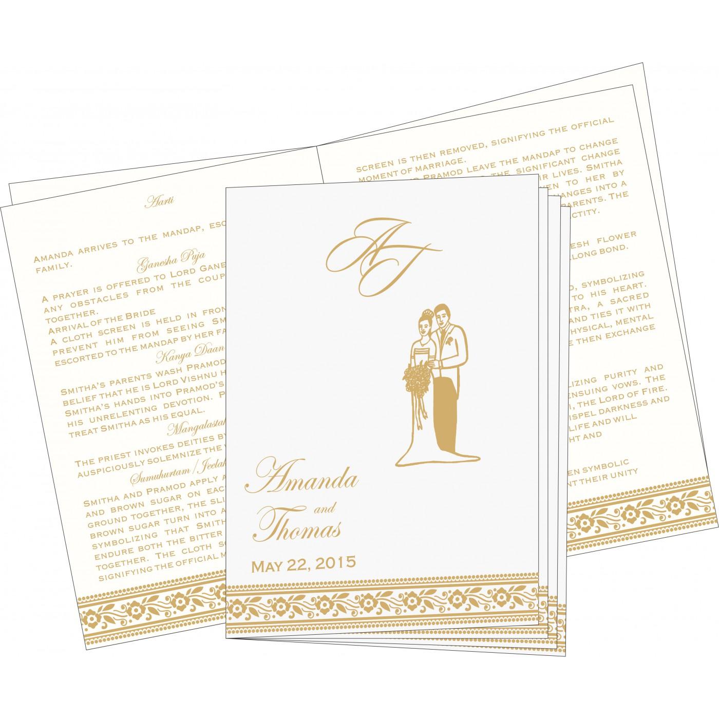 Program Booklets : PC-8220D - 123WeddingCards