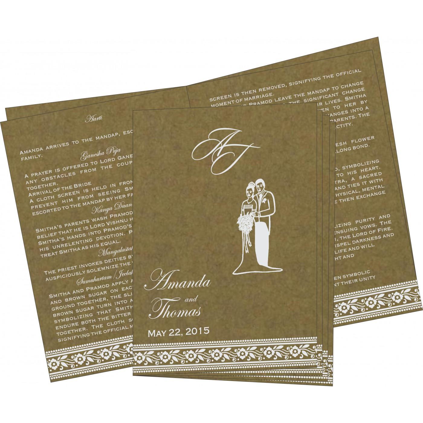 Program Booklets : PC-8220Q - 123WeddingCards