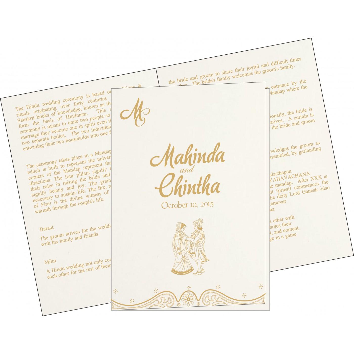 Program Booklets : PC-8221G - 123WeddingCards