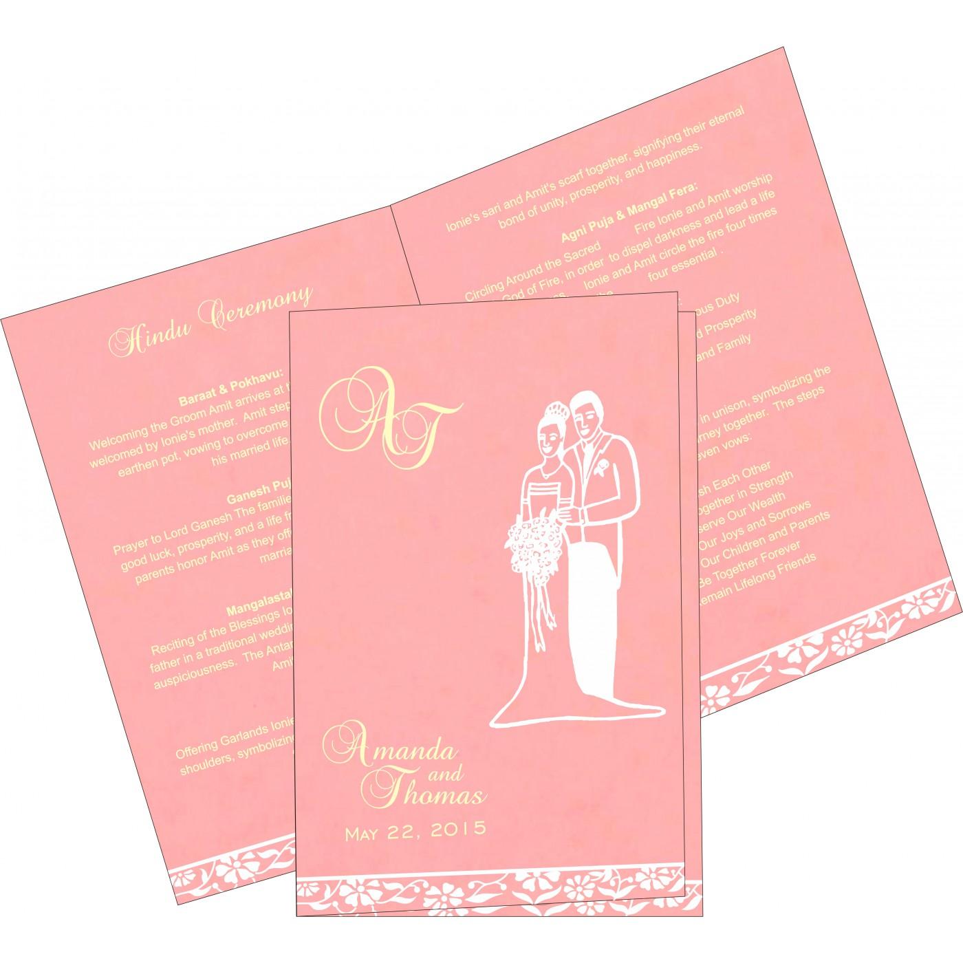 Program Booklets : PC-8222E - 123WeddingCards