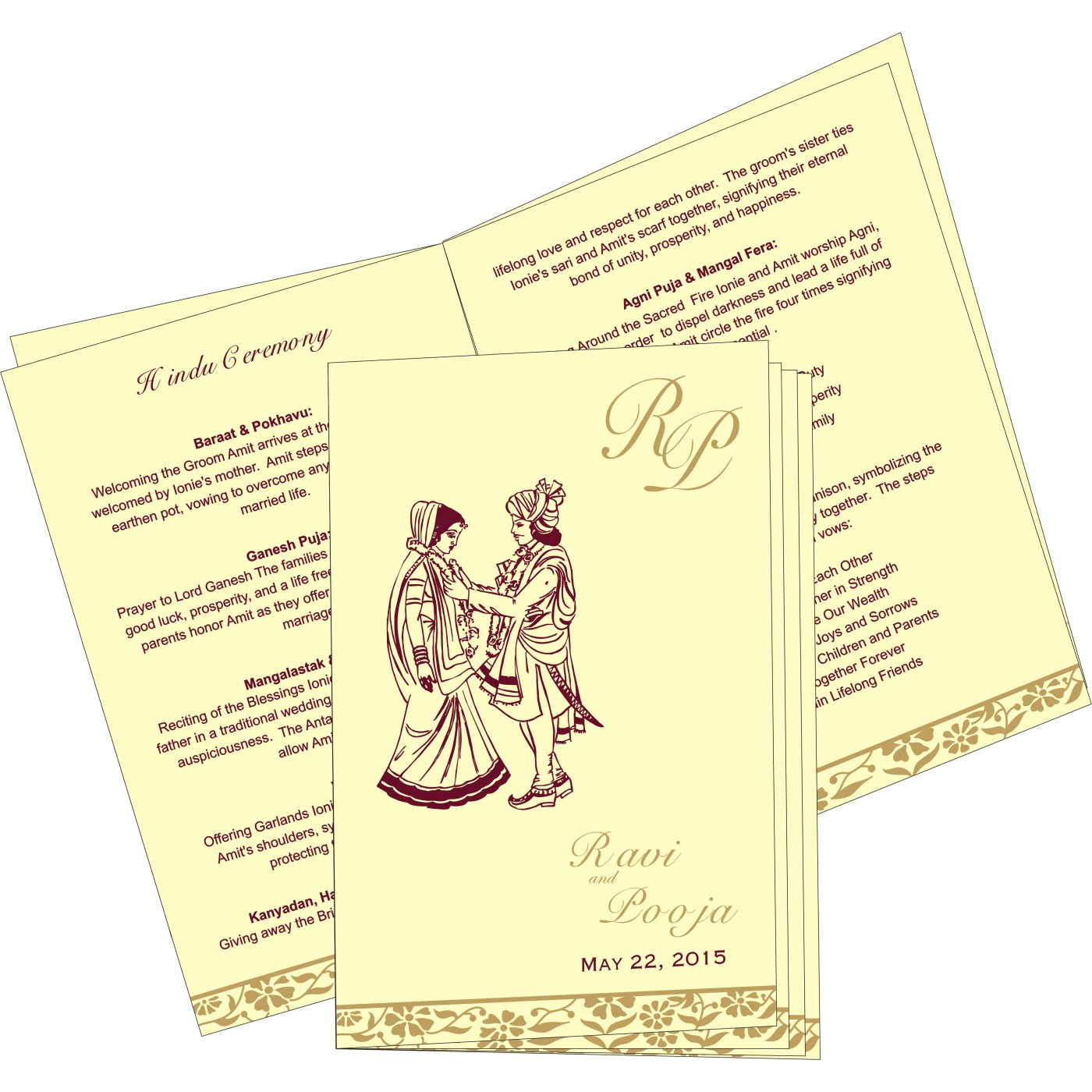 Program Booklets : PC-8222F - 123WeddingCards