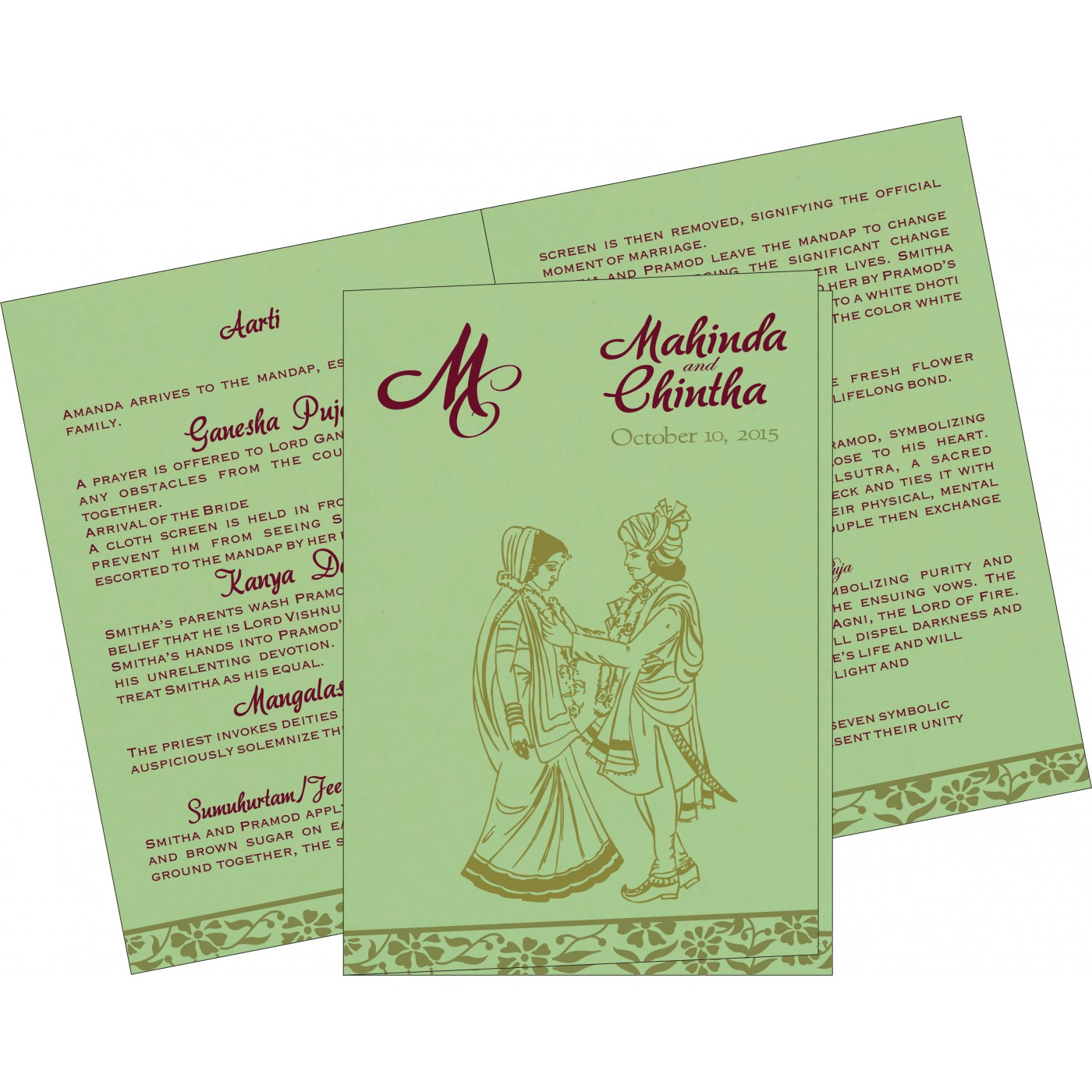 Program Booklets : PC-8222G - 123WeddingCards