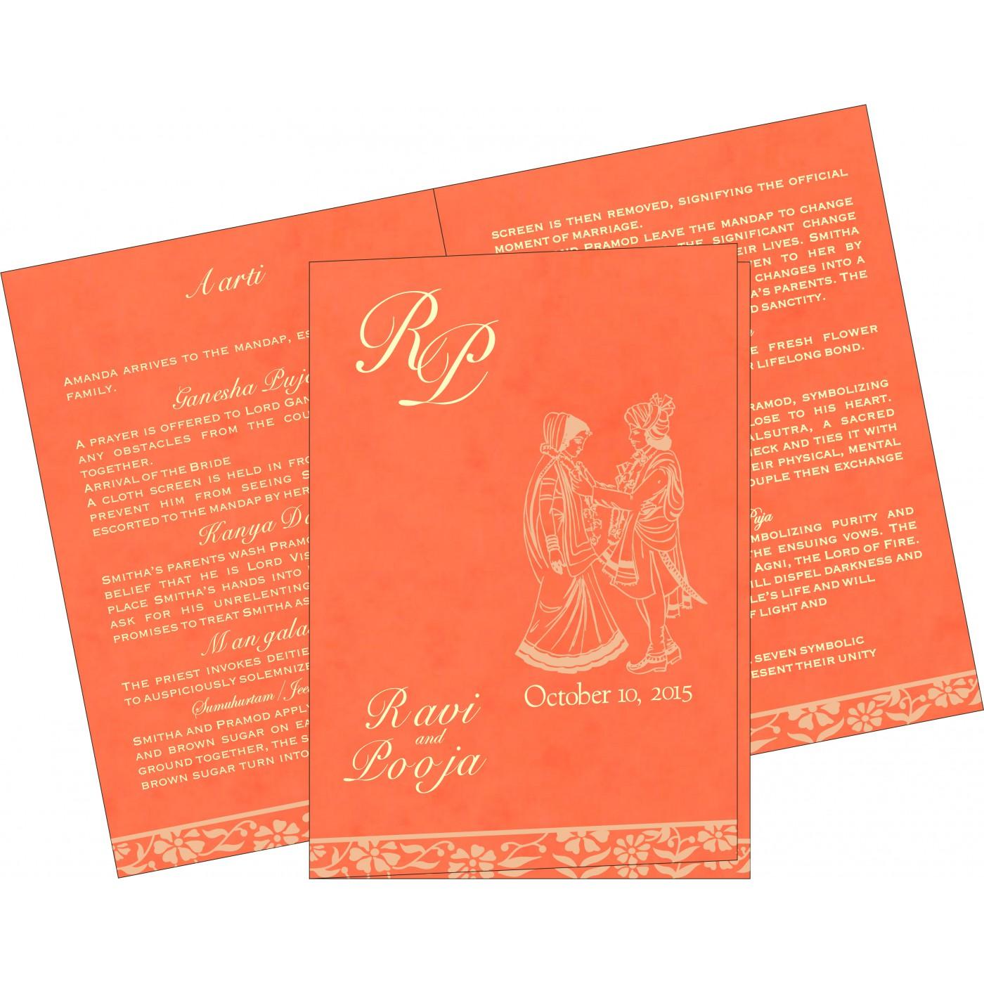 Program Booklets : PC-8222L - 123WeddingCards