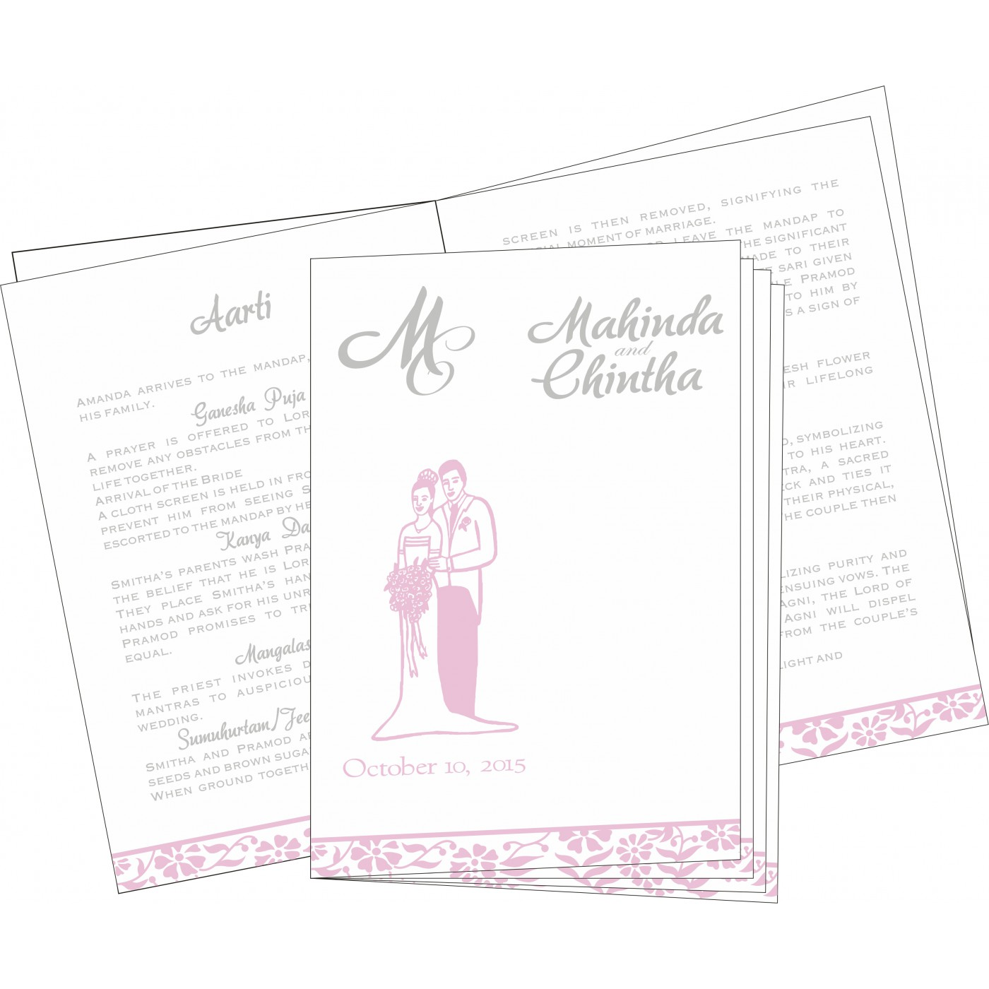 Program Booklets : PC-8222N - 123WeddingCards