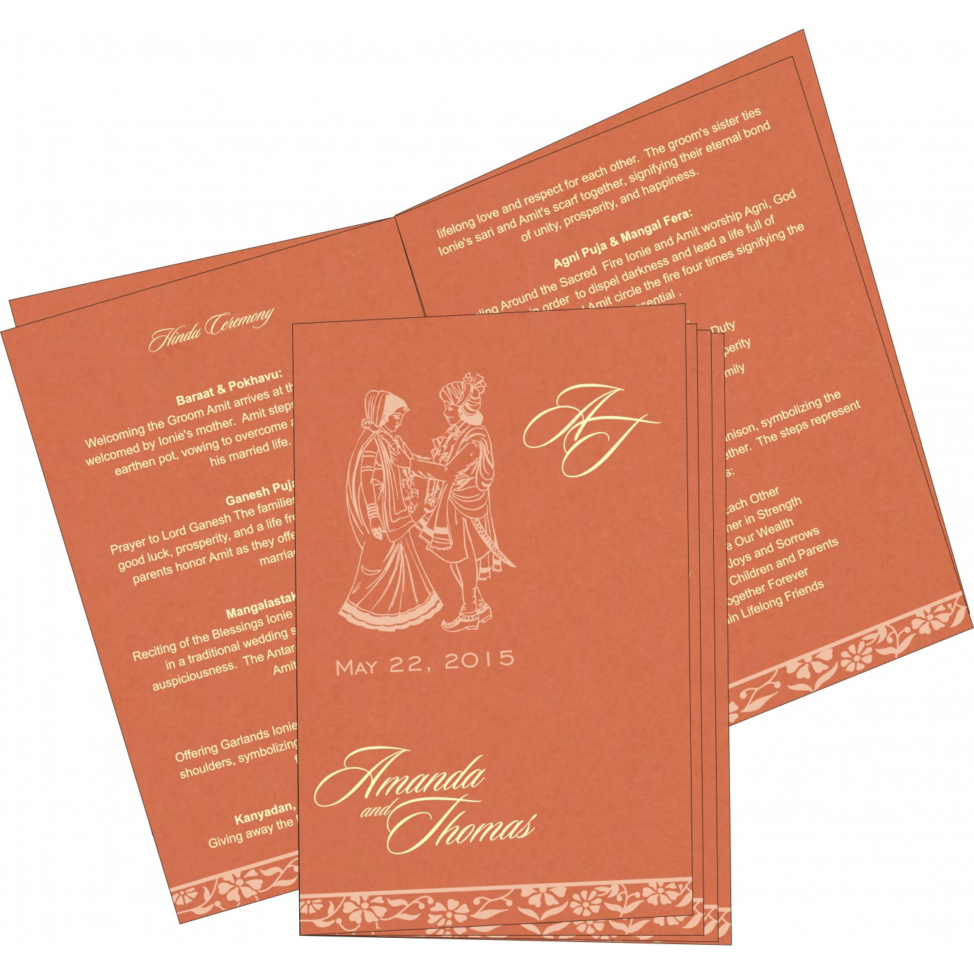 Program Booklets : PC-8222P - 123WeddingCards