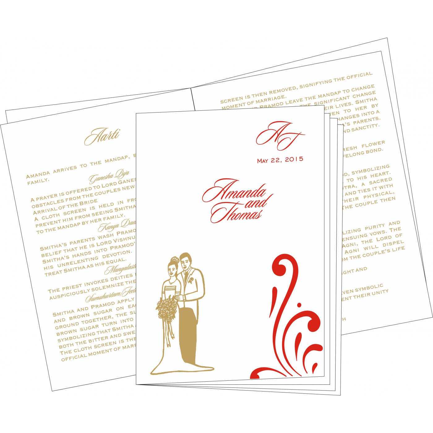 Program Booklets : PC-8223C - 123WeddingCards