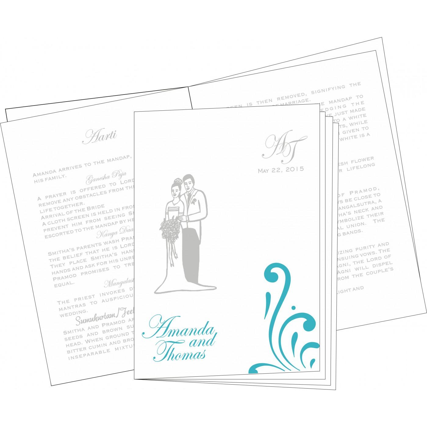 Program Booklets : PC-8223H - 123WeddingCards
