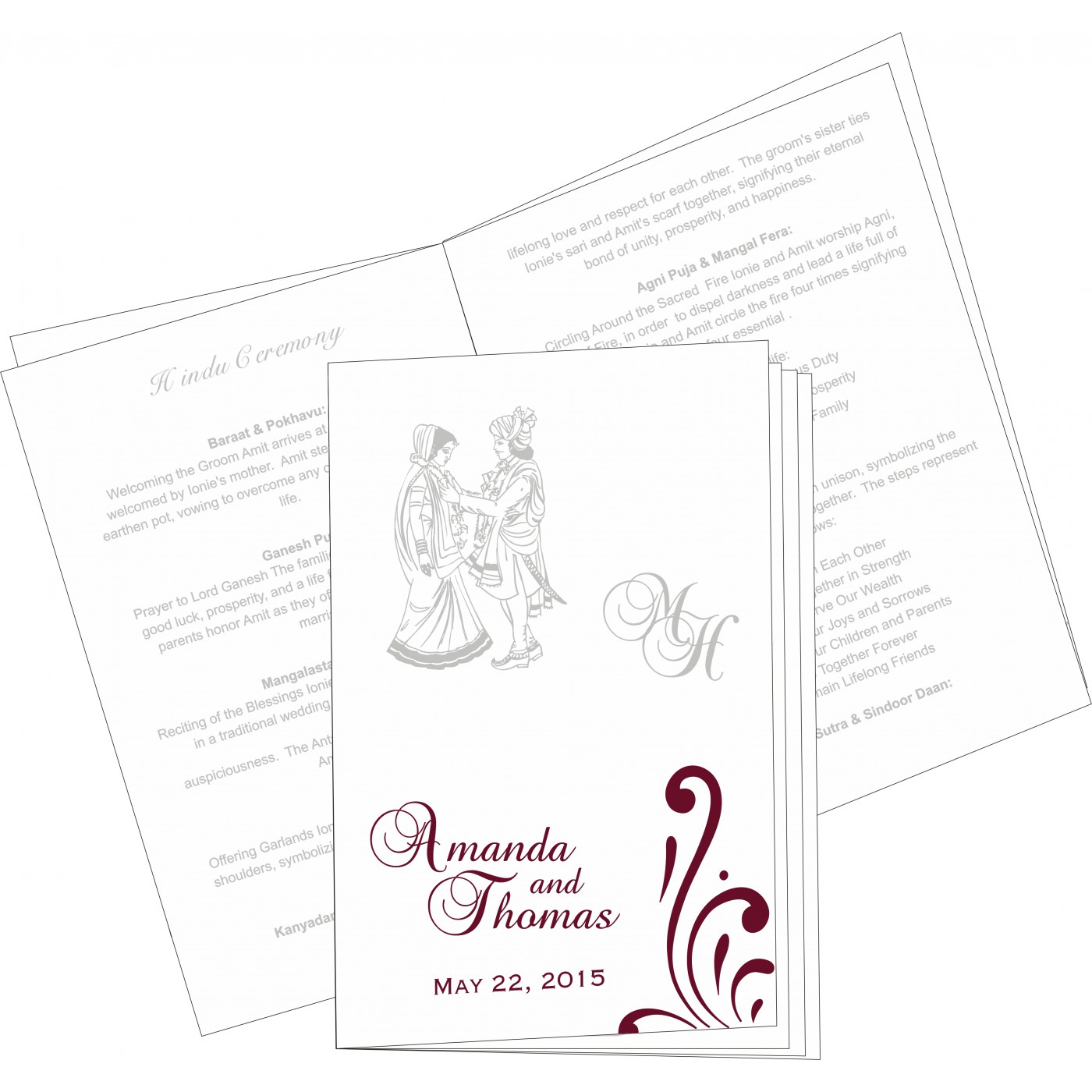 Program Booklets : PC-8223J - 123WeddingCards