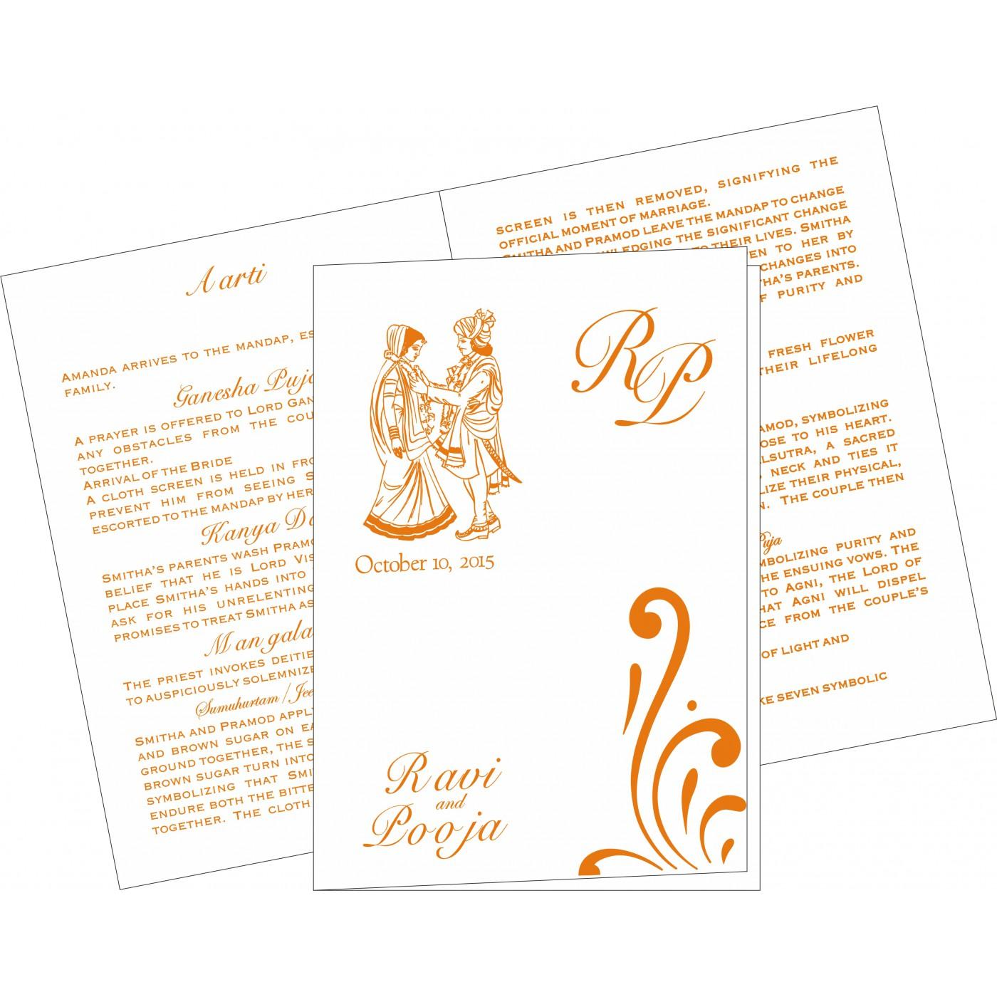 Program Booklets : PC-8223K - 123WeddingCards