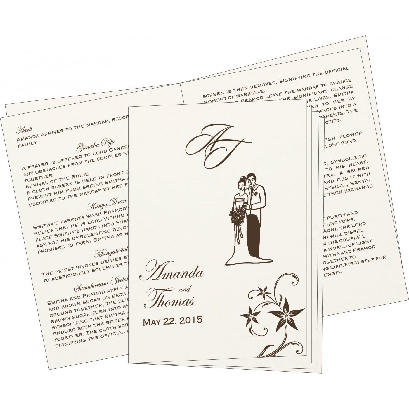 Program Booklets : PC-8225C - 123WeddingCards