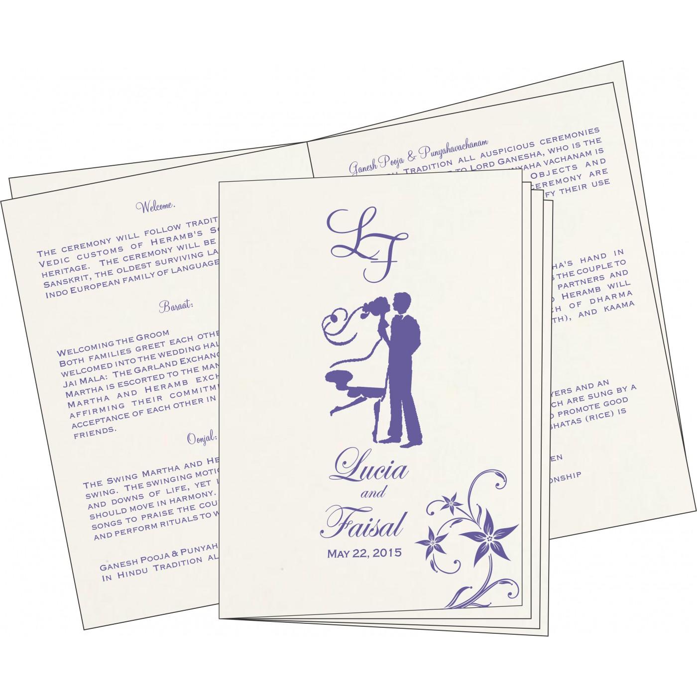 Program Booklets : PC-8225H - 123WeddingCards