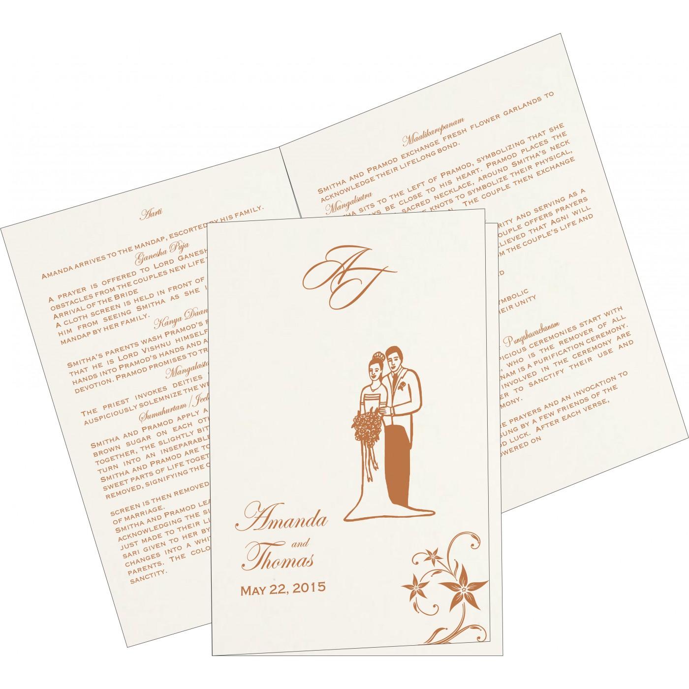 Program Booklets : PC-8225J - 123WeddingCards