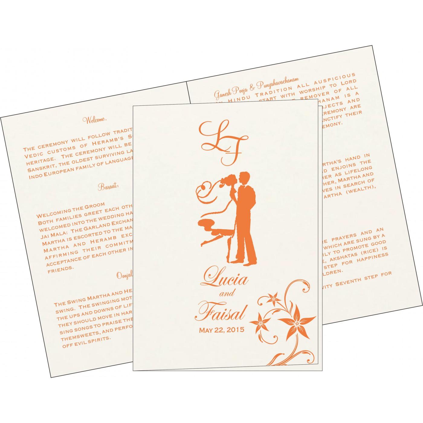 Program Booklets : PC-8225L - 123WeddingCards