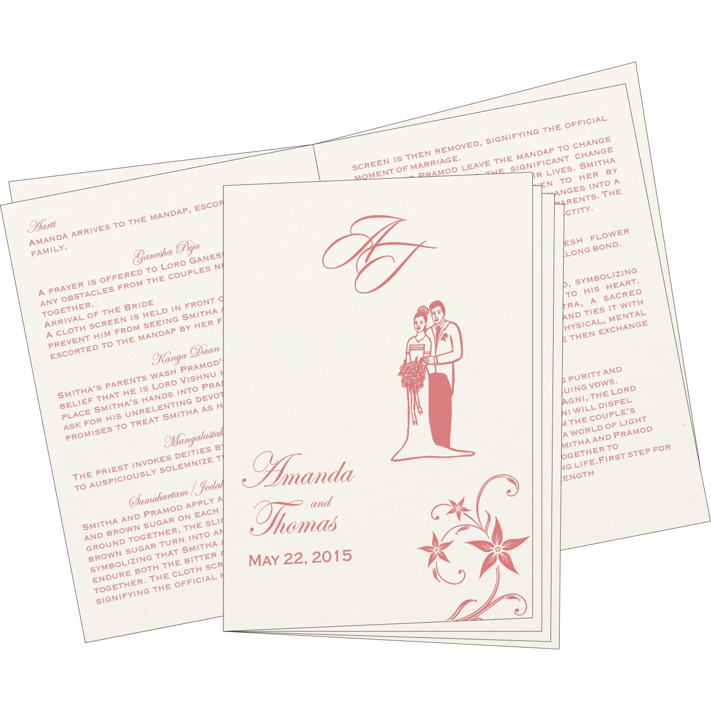 Program Booklets : PC-8225M - 123WeddingCards