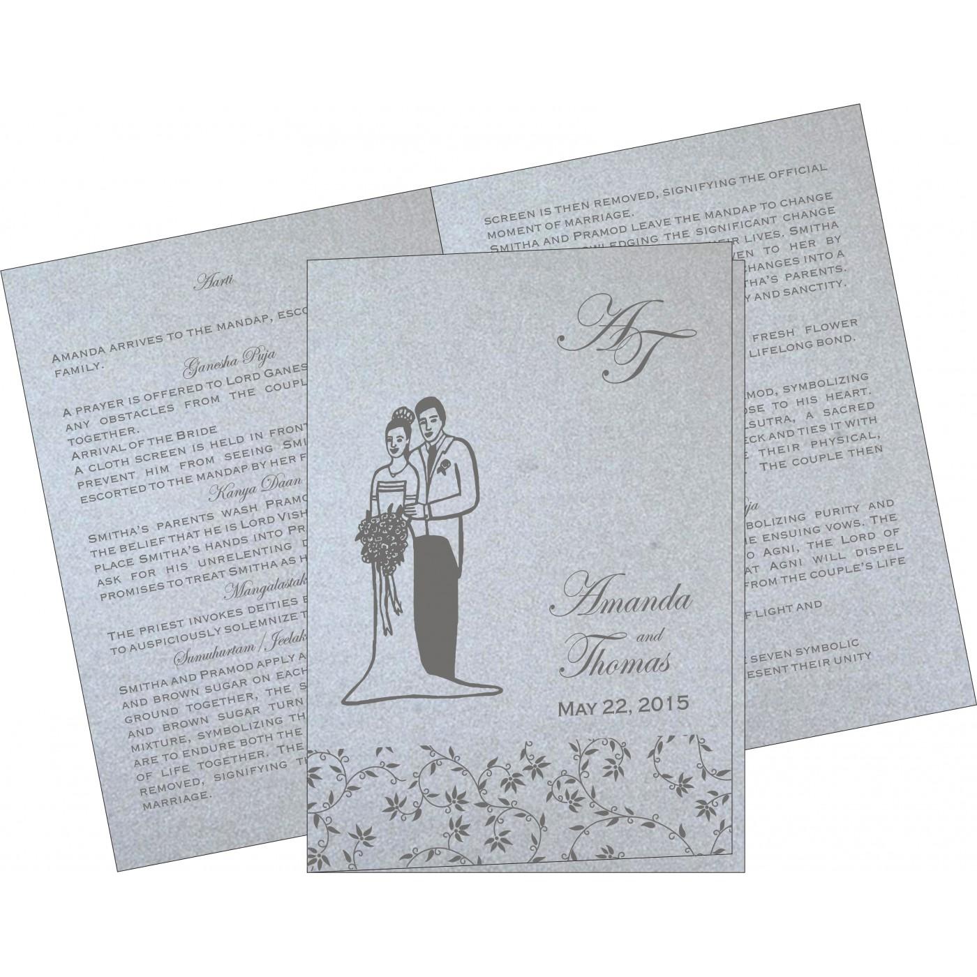 Program Booklets : PC-8226A - 123WeddingCards