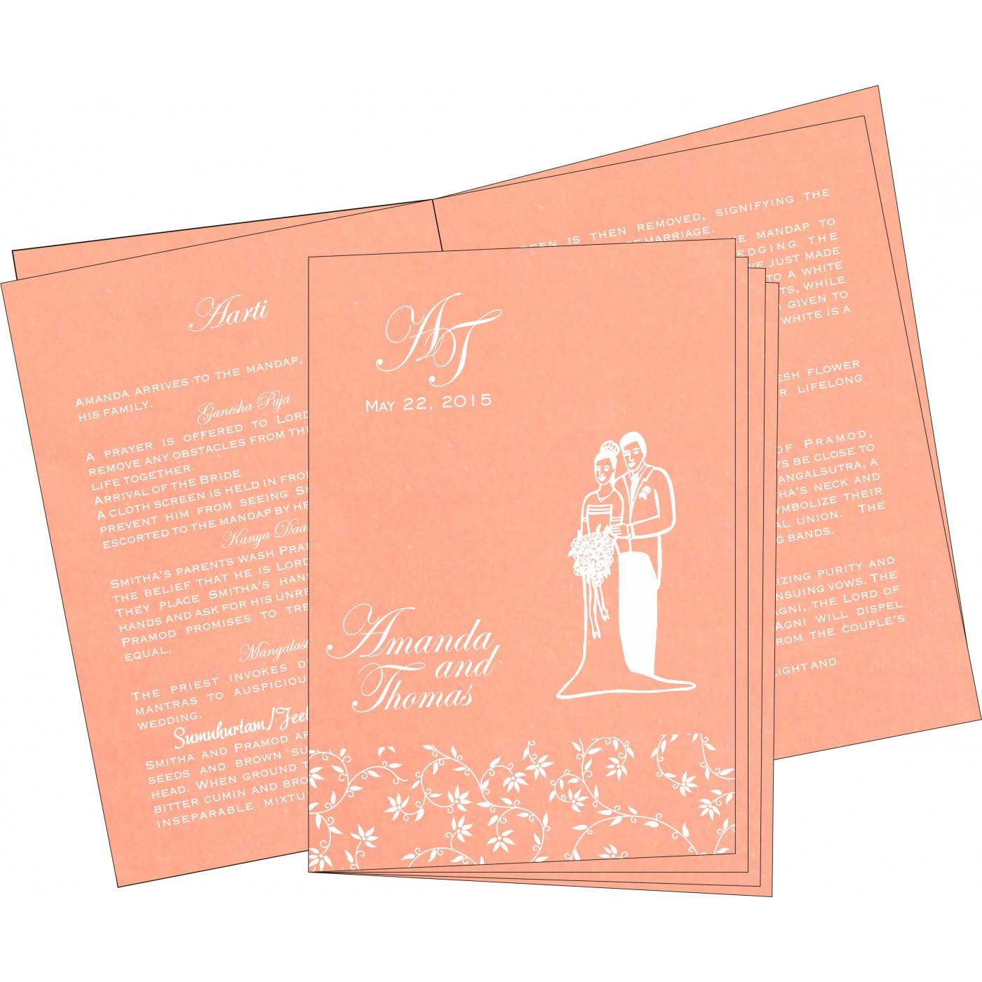 Program Booklets : PC-8226K - 123WeddingCards