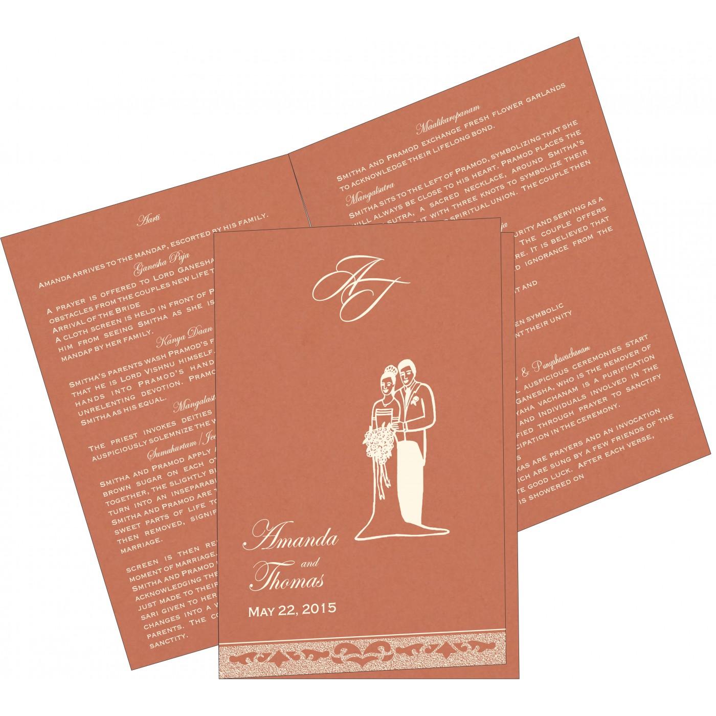 Program Booklets : PC-8227L - 123WeddingCards