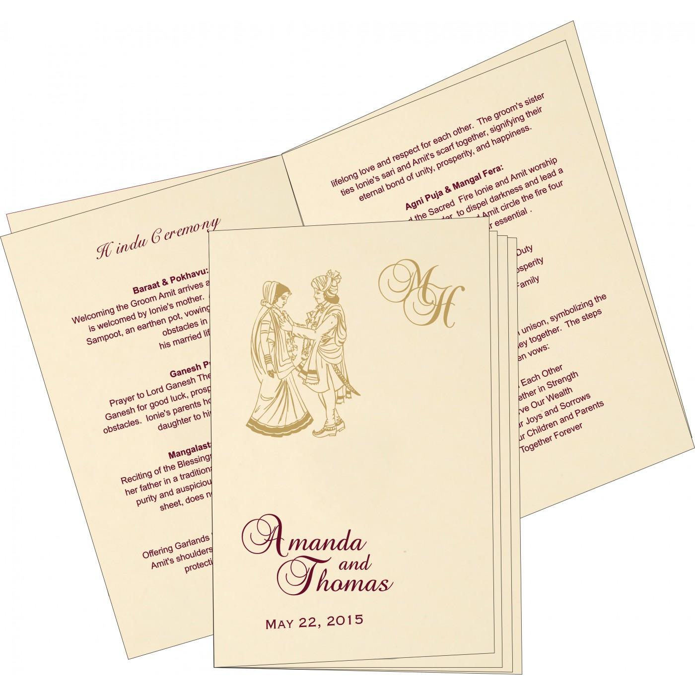 Program Booklets : PC-8229K - 123WeddingCards