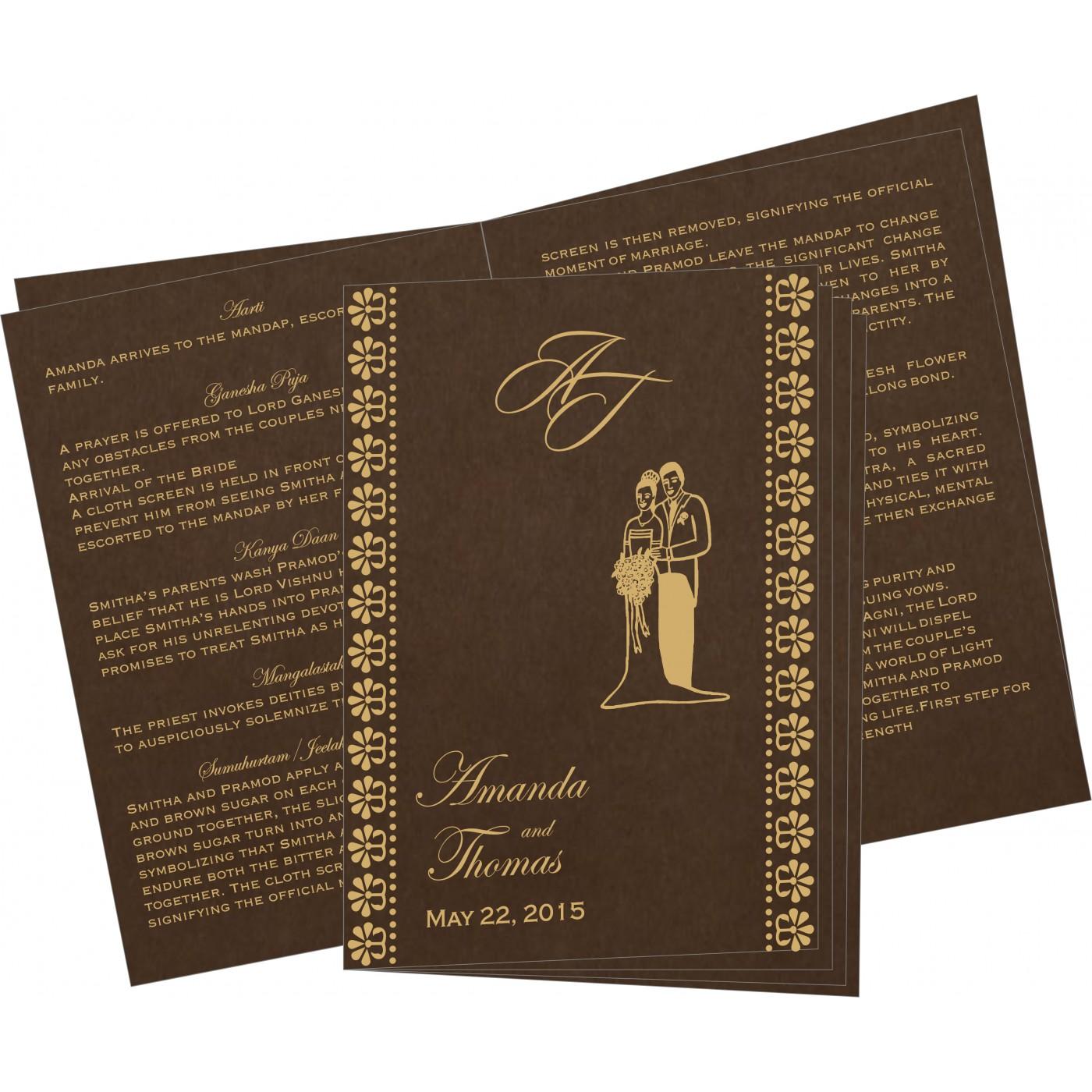 Program Booklets : PC-8231D - 123WeddingCards