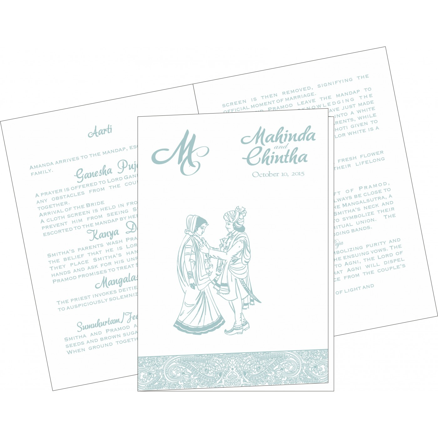 Program Booklets : PC-8234E - 123WeddingCards