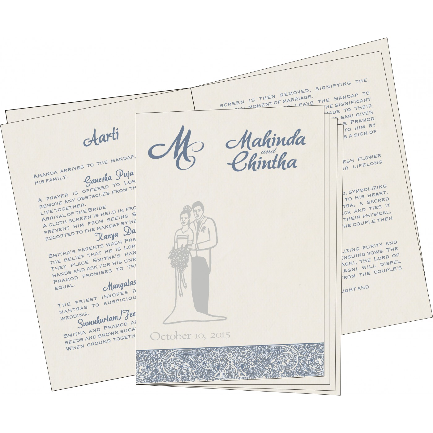 Program Booklets : PC-8234J - 123WeddingCards