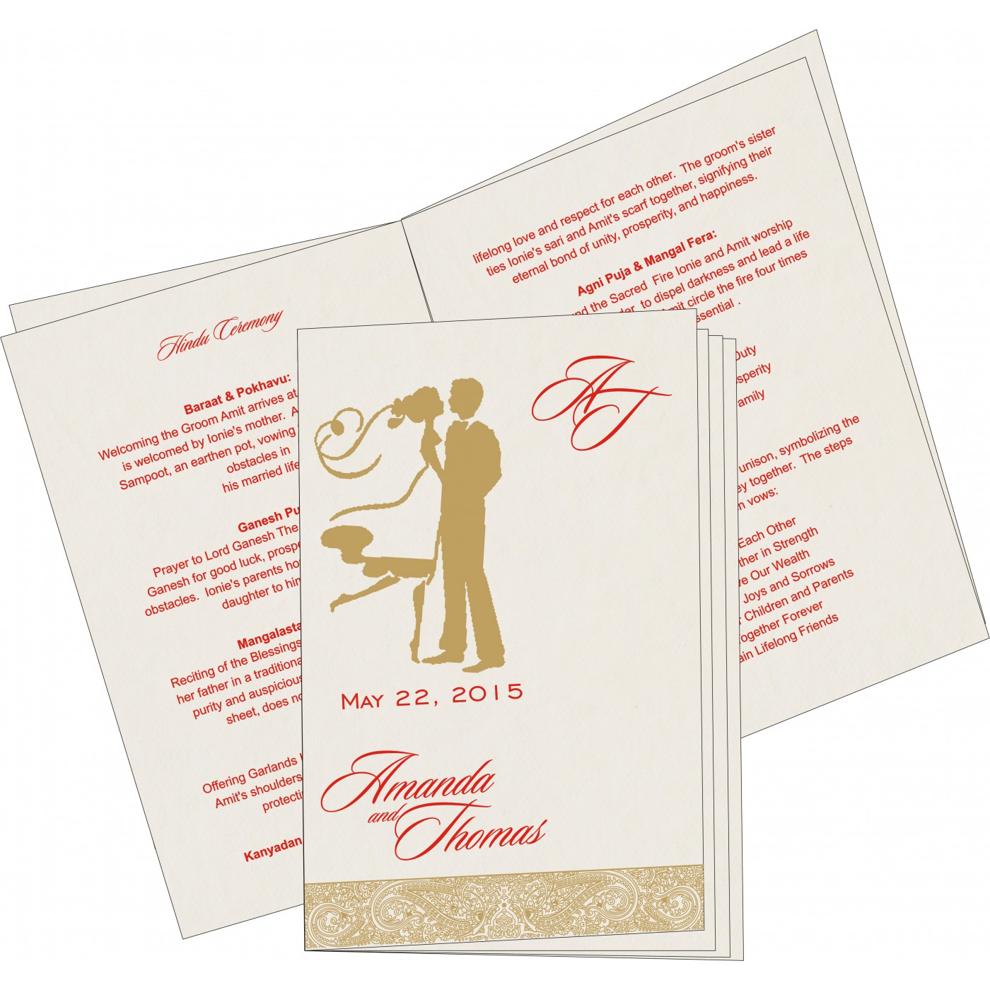 Program Booklets : PC-8234L - 123WeddingCards