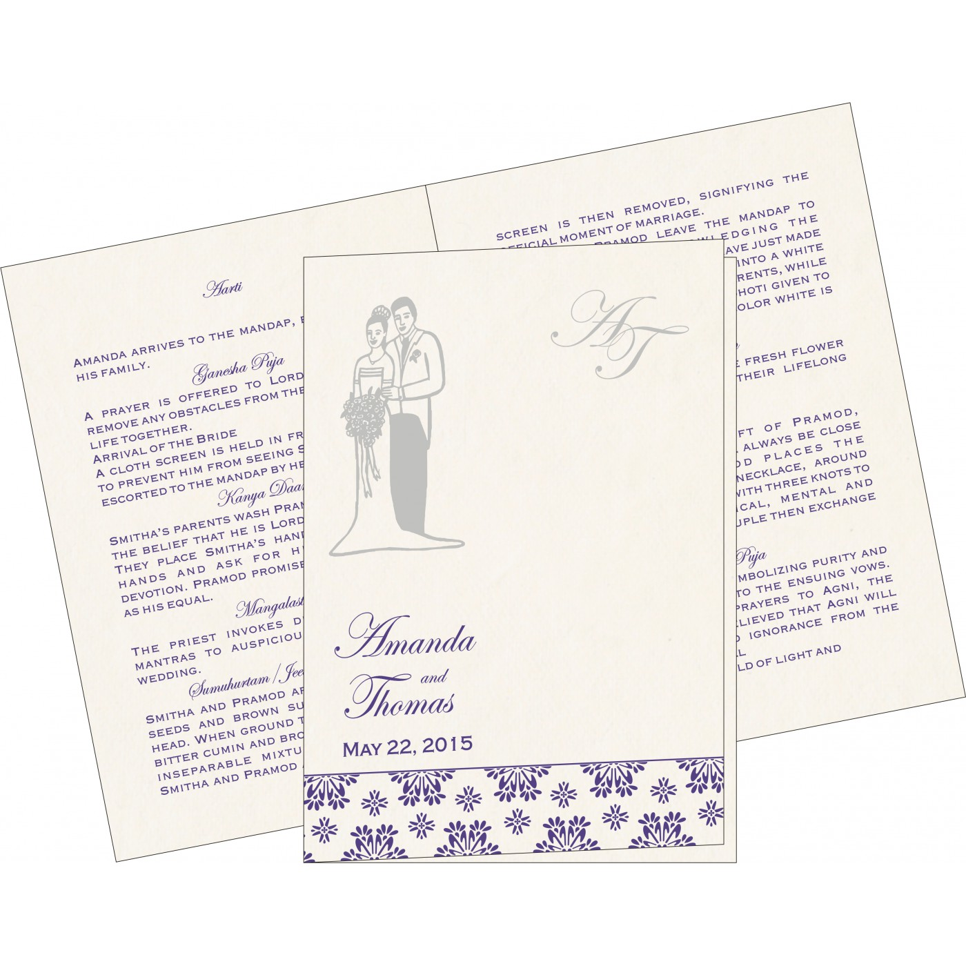 Program Booklets : PC-8237A - 123WeddingCards